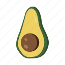 avocado, food, fruit, health, sweet icon