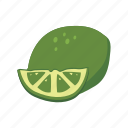 food, fruit, health, lemon, line, sweet icon