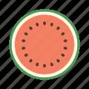 food, fruit, juicy, plant, seed, sweet, watermelon icon