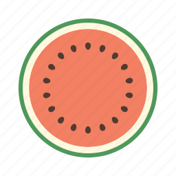 food, fruit, juicy, plant, seed, sweet, watermelon icon