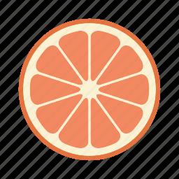 citrus, food, fruit, grapefruit, orange, vitamin icon