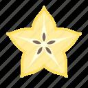 carambole, food, fruit, plant, seed, star fruit
