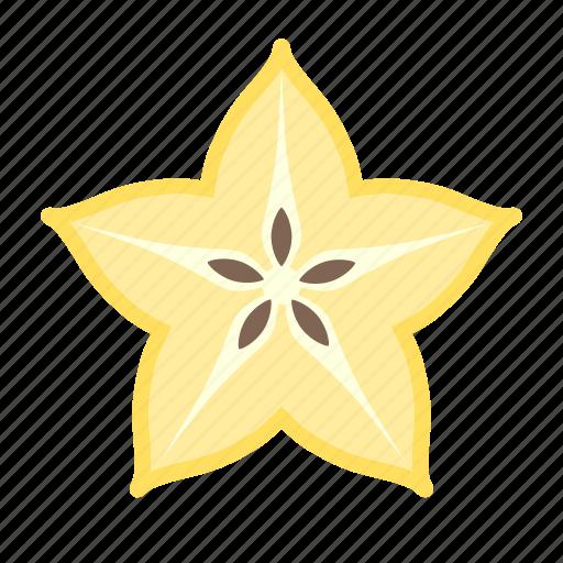 carambole, food, fruit, plant, seed, star fruit icon