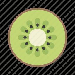 food, fruit, green, healthy, kiwi fruit, seed, vitamin icon