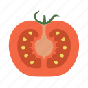 food, fruit, plant, red, seed, tomato, vegetable