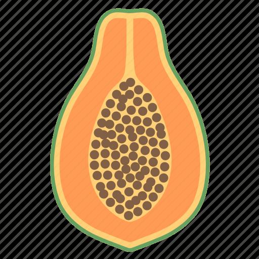 food, fruit, milk, papaya, plant, seed icon