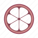 food, fruit, mangosteen, plant icon
