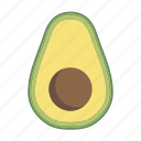avocado, food, fruit, plant, seed