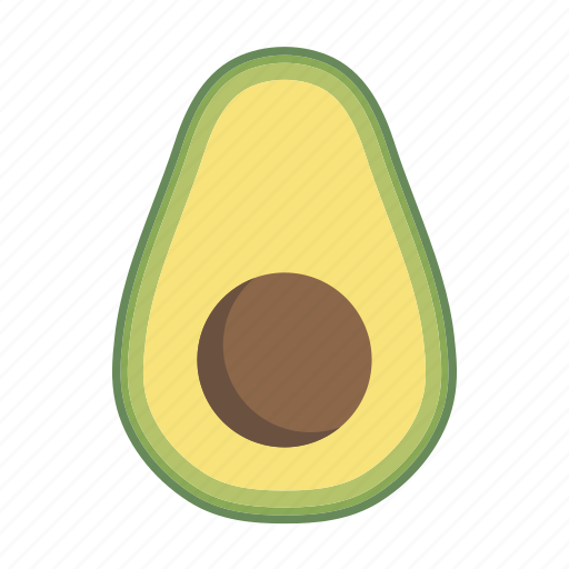 avocado, food, fruit, plant, seed icon