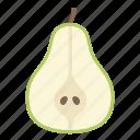 food, fruit, pear, plant, seed