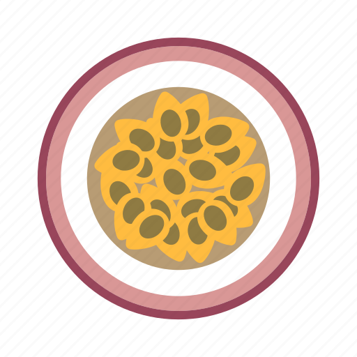food, fruit, passion fruit, plant, seed icon