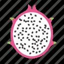dragon fruit, food, fruit, pink, pitaya, plant, seed