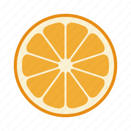 citrus, food, fruit, mandarin, orange, vitamin icon