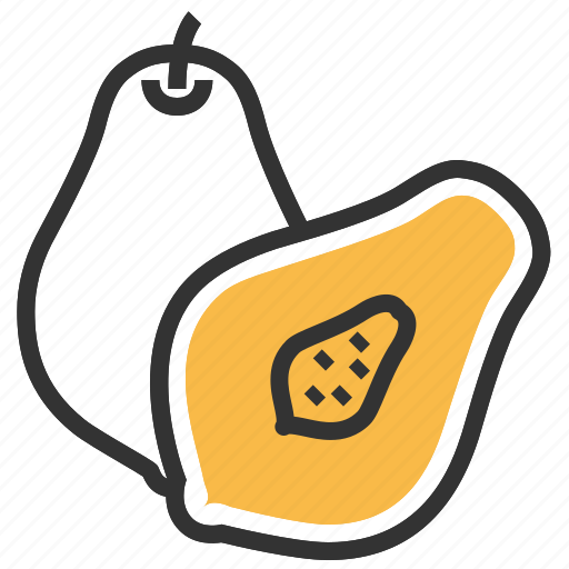 food, fruit, healthy, papaya, vegetable icon