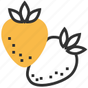 food, fruit, healthy, strawberry icon