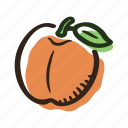 avenue, fruit, garden, juice, peach, sweet, tree icon
