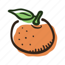 food, fruit, juice, mandarin, tasty, tree, tropical icon