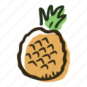 food, fruit, healthy, juice, pineapple, plantation, tropical icon