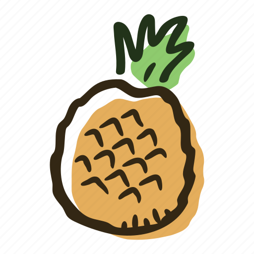 food, fruit, healthy, juice, pineapple, plantation, tropical icon