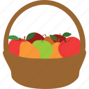 apples, cooking, fruit, fruit basket, peaches, pears icon