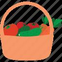 basket, buy, market, store, vegetable basket, vegetables icon
