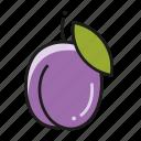 food, fruit, fruits, plum icon