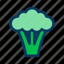 broccoli, food, fresh, harvest, organic, salad, vegetable icon