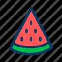 food, fresh, fruit, healthy, slice, sweet, watermelon icon