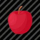 apple, cartoon, delicious, diet, food, red, sweet