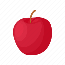 apple, cartoon, delicious, diet, food, red, sweet icon