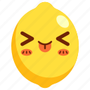 avatar, cartoon, character, cute, fruit, lemon icon