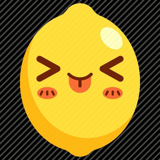 avatar, cartoon, character, cute, fruit, lemon icon