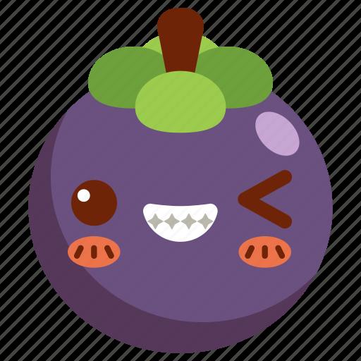 avatar, cartoon, character, cute, fresh, mangosteen icon