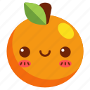 avatar, cartoon, character, cute, fresh, fruit, orange icon