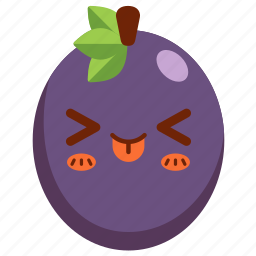 avatar, cartoon, character, cute, fruit, passion fruit icon