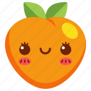 avatar, cartoon, character, cute, food, fruit, peach icon