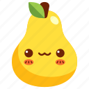 avatar, cartoon, character, cute, fruit, pear icon