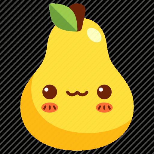 avatar, cartoon, character, cute, fruit, pear icon