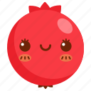 avatar, cartoon, character, cute, fruit, pomegranate icon
