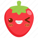 avatar, cartoon, character, cute, fruit, strawberry icon