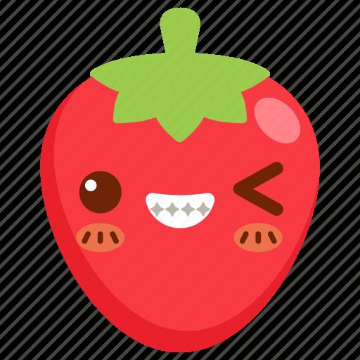 avatar, cartoon, character, cute, fruit, strawberry icon