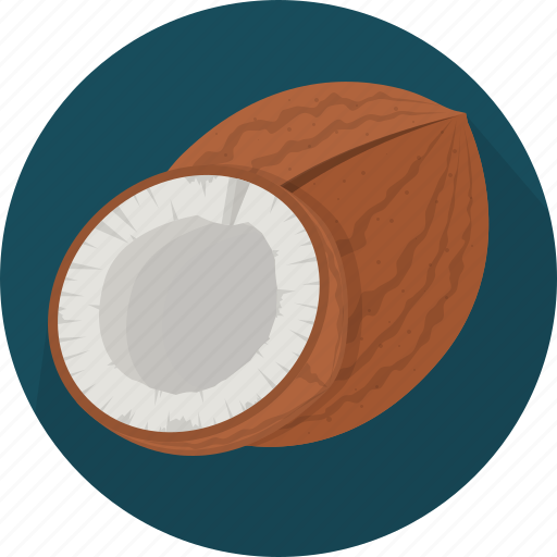 coconut, cooking, food, fruit, kitchen, meal, plant icon