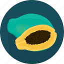 cooking, food, fruit, kitchen, meal, papaya, plant icon