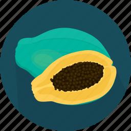 cooking, food, fruit, kitchen, meal, papaya, plant icon