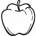 apple, fresh, fruit, healthy, sweet icon