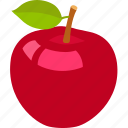 alphabet, apple, food, fruit, health, healthy, red icon