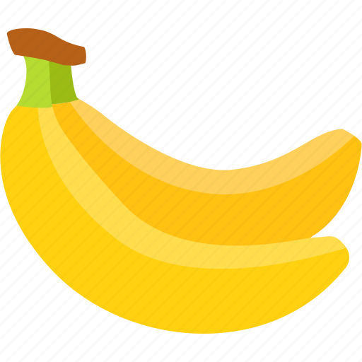 banana, bananas, bunch, flavor, fruit, healthy, yellow icon