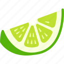 lemon, lime, orange, piece, slice, wedge icon