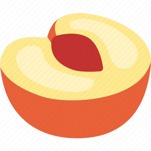 fresh, fruit, golden, nectarine, peach, summer, sweet icon