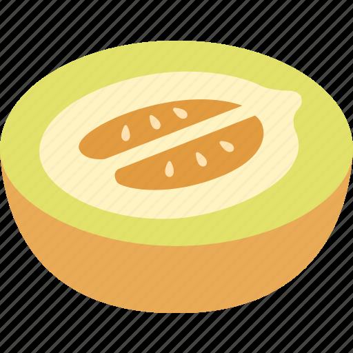 cantaloupe, honey, honeydew, honeymelon, melon, muskmelon, rockmelon icon
